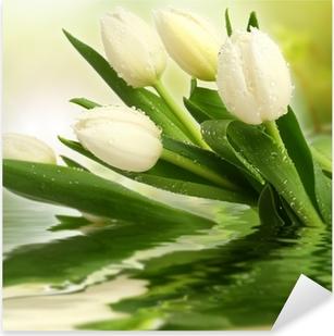 Pixerstick Aufkleber Weiße tulpen