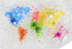 Pixerstick Aufkleber Weltkarte Malerei