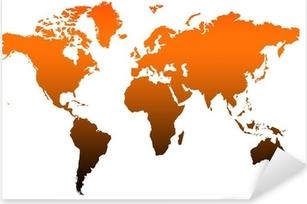 Pixerstick Aufkleber Weltkarte mit hoher Auflösung