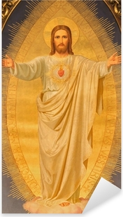 Pixerstick Aufkleber Wien - Herz von Jesus malen auf Altar der Kirche Sacré-Coeur