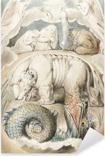 Pixerstick Aufkleber William Blake - Behemoth und Leviathan