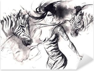Pixerstick Aufkleber Zebrap
