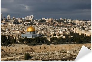 Autocolante Pixerstick A cidade santa de Jerusalém de Israel