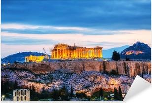 Autocolante Pixerstick Acropolis à noite, após o por do sol