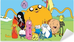 Autocolante Pixerstick Adventure Time Finn & Jake