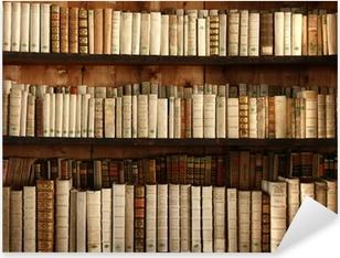 Autocolante Pixerstick Altes Bücherregal