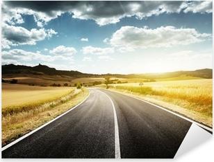 Autocolante Pixerstick asphalt road in Tuscany Italy