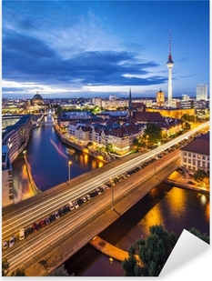 Autocolante Pixerstick Berlin, Germany Skyline Scene