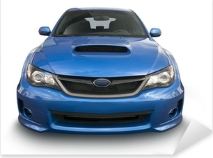 Autocolante Pixerstick Blue Sports Car