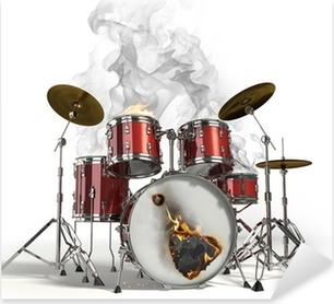 Autocolante Pixerstick Burning drums