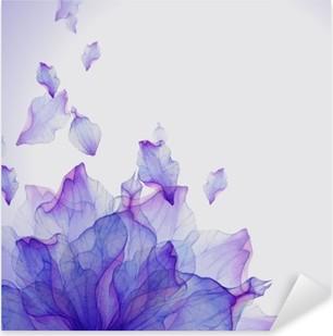 Autocolante Pixerstick Cartão da aguarela com pétala de flor roxo