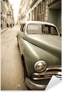 Autocolante Pixerstick Cuban antique car