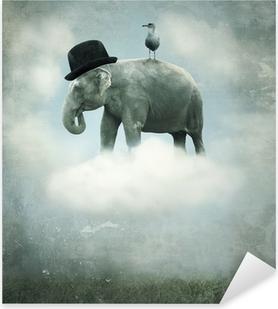 Autocolante Pixerstick Fantasy elephant flying