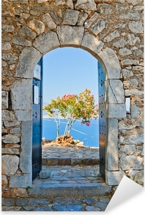 Autocolante Pixerstick Gate in Palamidi fortress, Nafplio, Greece