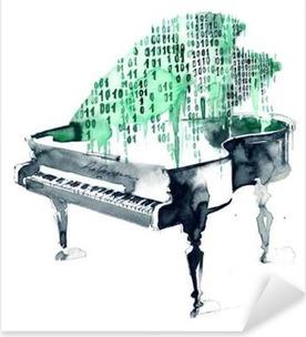 Autocolante Pixerstick Grand piano
