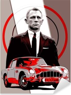 Autocolante Pixerstick James Bond