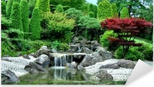 Autocolante Pixerstick Japanischer Garten