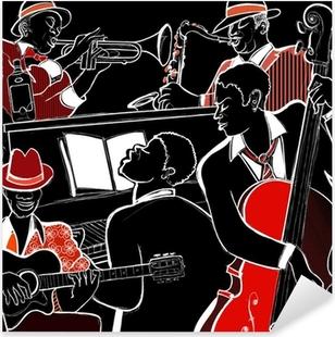 Autocolante Pixerstick jazz band