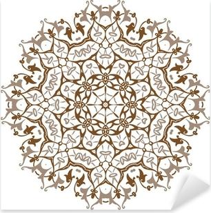 Autocolante Pixerstick Mandala Design