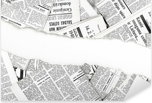 Autocolante Pixerstick old ripped newspapers