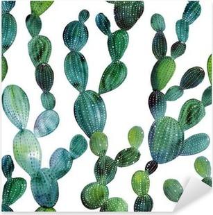 Autocolante Pixerstick Padrão de Cactus no estilo da aguarela