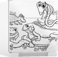 Quadro Em Tela Repteis E Anfibios Para Colorir Pixers Vivemos