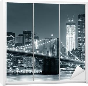 Autocolante para Roupeiro New York City Brooklyn Bridge