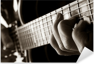 Autocolante Pixerstick playing jazz guitar