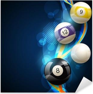Autocolante Pixerstick pool balls