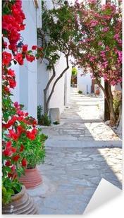 Autocolante Pixerstick Quiet back street in small traditional greek village