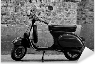 Autocolante Pixerstick Scooter in front of a wall
