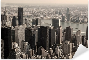 Autocolante Pixerstick Skyline of Manhattan - sepia image