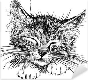Autocolante Pixerstick sleeping cat