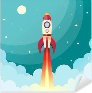 Autocolante Pixerstick Space rocket print