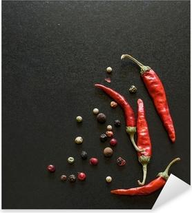 Autocolante Pixerstick Spices on a blackboard