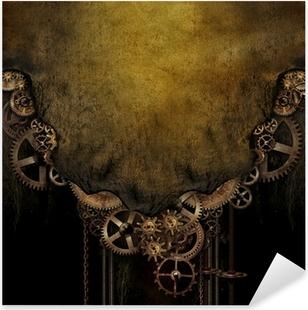 Autocolante Pixerstick Steampunk Background