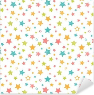 Autocolante Pixerstick Teste padrão sem emenda bonito com estrelas. Cópia à moda com a mão tirada