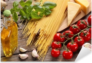 Autocolante Pixerstick Vegetables,herbs and spices for Italian food