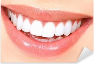 Autocolante Pixerstick Woman teeth