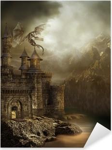 Autocolante Pixerstick Zamek w górach
