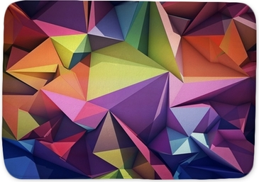 Badmat Abstracte geometrische achtergrond.