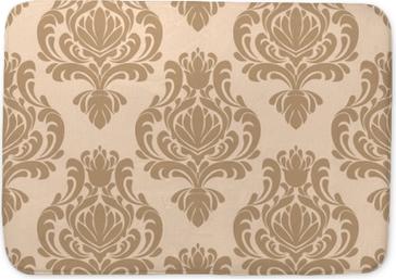 Badmat Naadloos damast retro behang voor ontwerp
