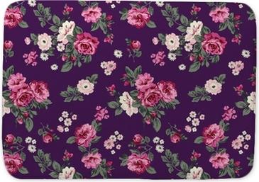 Badmat Schitterende rozen naadloze achtergrond