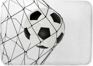 Badmatta Fotboll bollen i mål porten