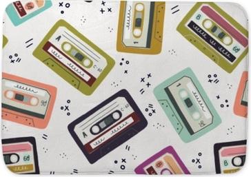 Badmatta Handgjord kassettband sömlöst mönster