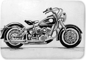 American motorcycle Bath Mat