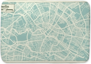 Berlin Germany City Map in Retro Style. Outline Map. Bath Mat