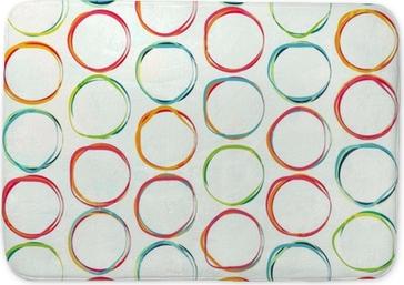 colored circle seamless pattern with grunge effect Bath Mat