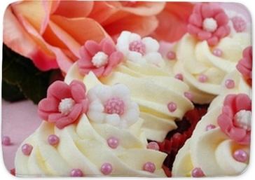 Fiori Rosa E Bianchi.Cupcake Con Fiori Rosa E Bianchi Wall Mural Pixers We Live To