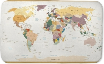 Textured vintage world map englishus labels vector cmyk throw textured vintage world map englishus labels vector cmyk throw pillow pixers we live to change gumiabroncs Choice Image